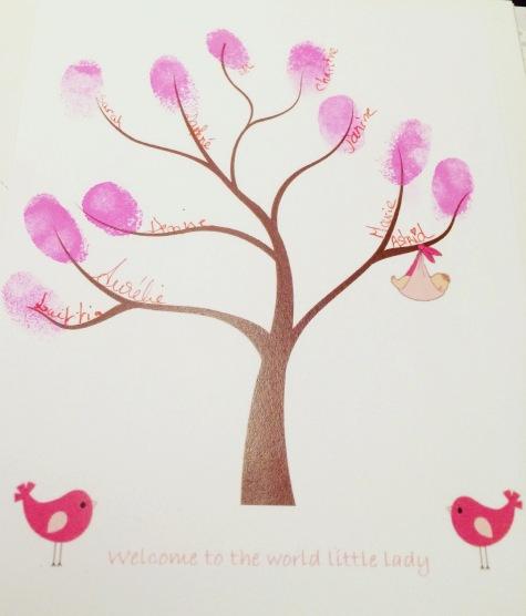 arbre empreintes baby shower