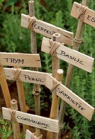 étiquettes bois