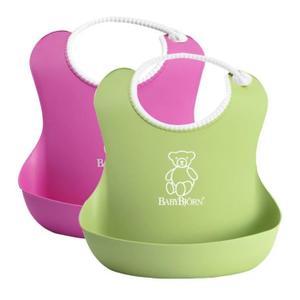 babybjorn-bavoirs-souples-rose-vert-mixte