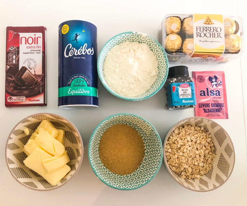 Ingrédients biscuits araignées