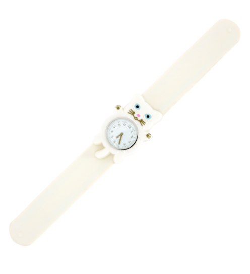 montre-slap-funny-time - chat blanc